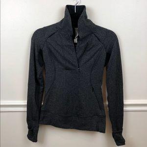 Lulu lemon pullover black/white sporty half zip